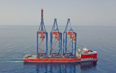 Successful transport of STS cranes by Bering
