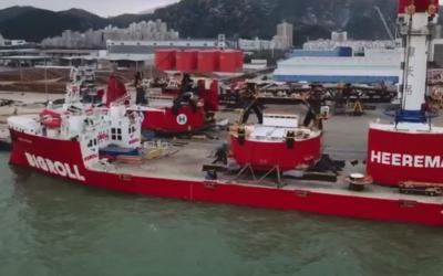 'Sleipnir' parts onboard the BigRoll Beaufort